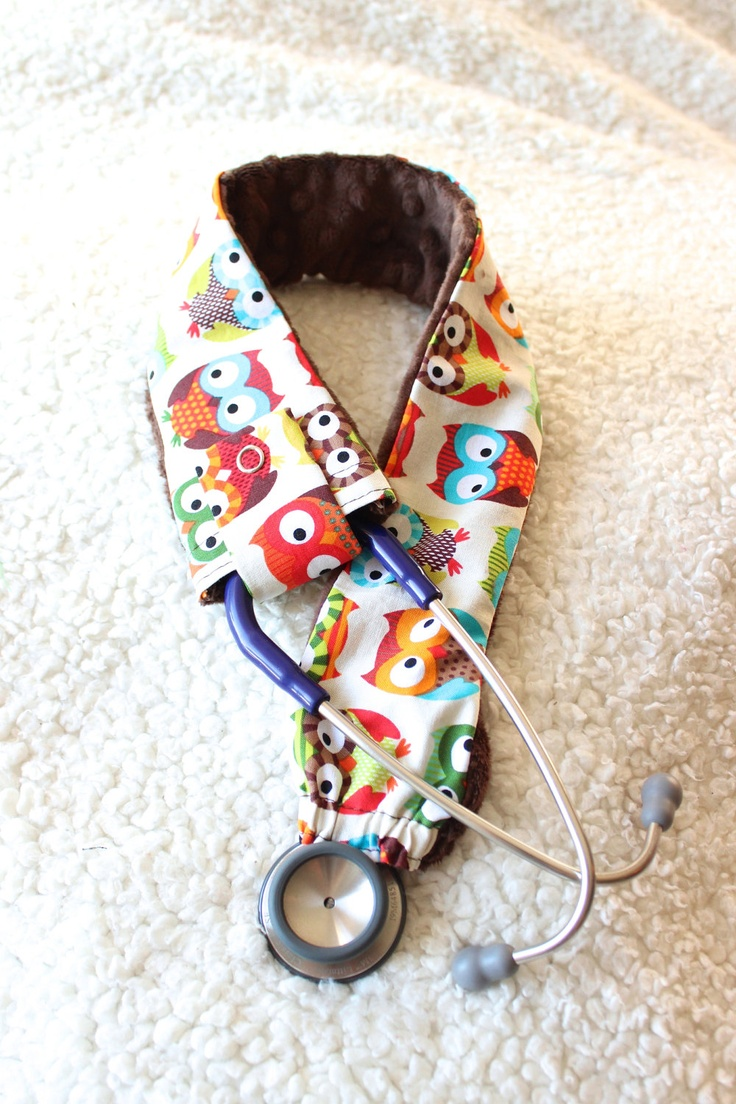 Customizable Stethoscope Cover (Big Owls) - Nurses, doctors, gifts for nurses, medical assistants. $17.50, via Etsy.