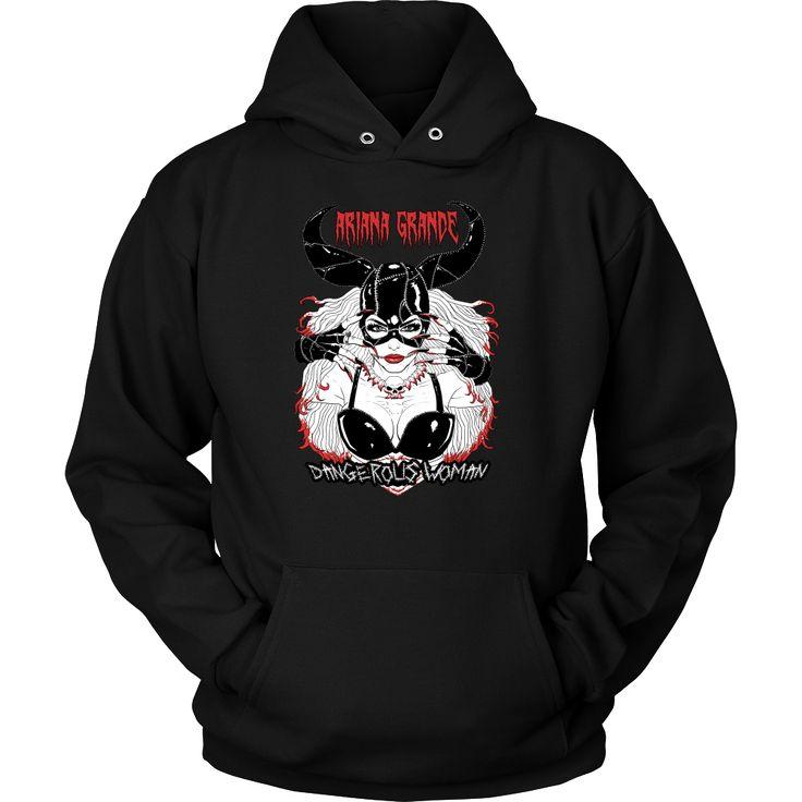 Ariana Grande - Dangerous Woman (2) metal hoodie. USD 17.59 We ship worldwide! ------------------- metal head, black metal, pop music, fashion, arianators,