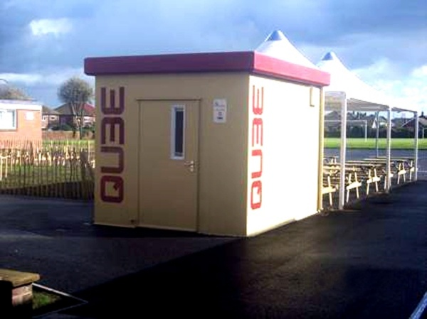 PKL modular food kiosk at Marden School. The PKL Food Cube, a modular catering kiosk, was installed as part of a revamp of the school's dining facilities. Since its installation, revenue from catering has increased by a staggering 48%!