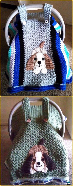 Crochet Basic Car Seat Tent Free Pattern - Crochet Baby Shower Gift Ideas Free Patterns