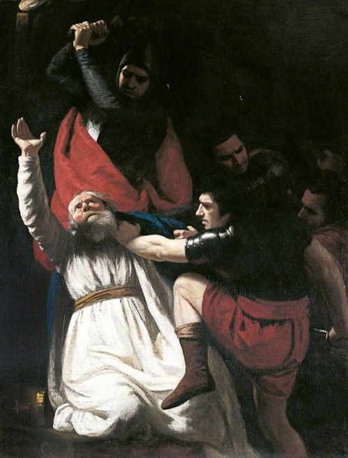 Murder of Thomas Becket in Canterbury Cathedral John Opie (1761–1807) Canterbury City Council Museums and Galleries