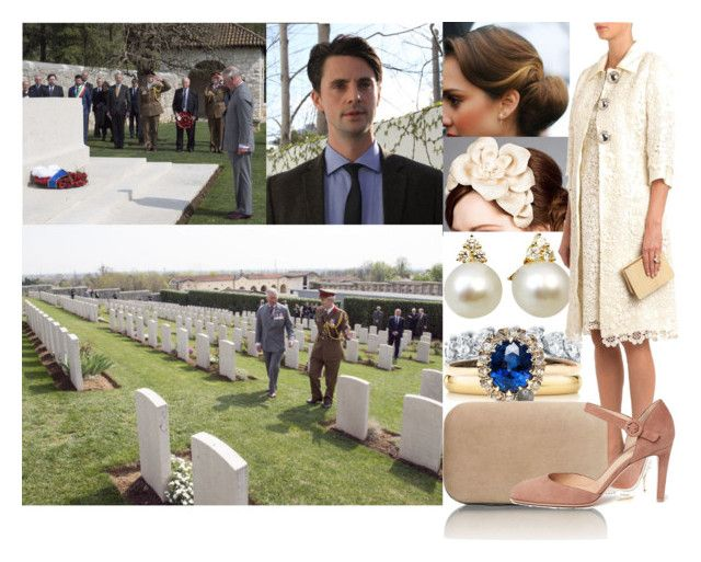 """""""Visiting the Commonwealth War Graves Cemetery in Montecchio Precalcino"""" by lady-maud ❤ liked on Polyvore featuring Rachel Trevor-Morgan, Elsa Peretti, Dolce&Gabbana and Gianvito Rossi"""