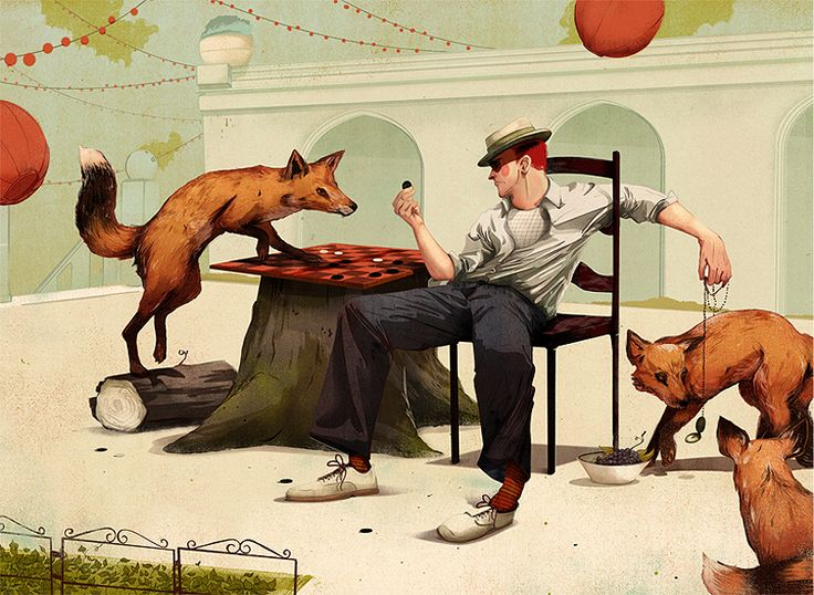 Jonathan Bartlett Jonathan Bartlett was recently... | The Khooll: Bartlett Jonathan, Graphic Design, Art Illustrations, Bartlett Illustrations, Fox Trap, Artist, Foxy, Foxes