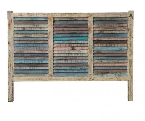 Tête de lit en bois recyclé bahia Maisons du Monde vu dans la presse à retrouver sur Selectionnist.com