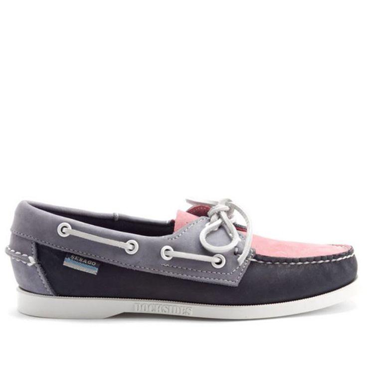 Sebago Spinnaker - Pink / Navy Blue Boat Shoe