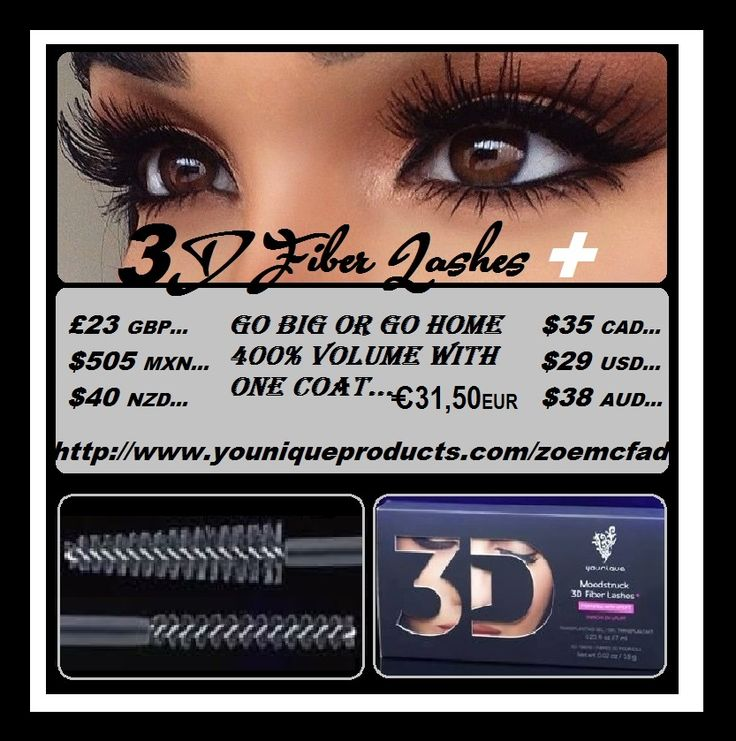 fantastic 3D FIBER LASHES+ THROW AWAY YOUR FALSE LASHES GIRLS ALL YOU NEED IS FIBER LASH £23 GBP/ $495 MXN/ $40 NZD/ $35 CAD/ $29 USD/ $38 AUD/ 31,50 EUROS EUR/  #MAKEUP #ENGLAND #canada #usa #australia #newzealand #mexico #germany #younique #rimel #mascara #longlashes #cosmetics #maquillaje #bilden