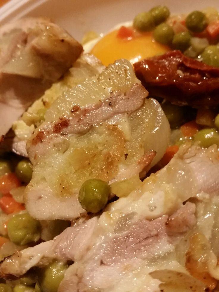 Cosce di pollo ripiene in salsa di agrumi
