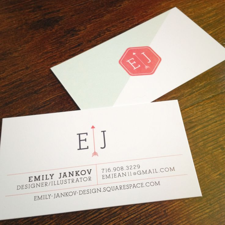 My business cards and new self branding!! Emily-Jankov-Design.squarespace.com