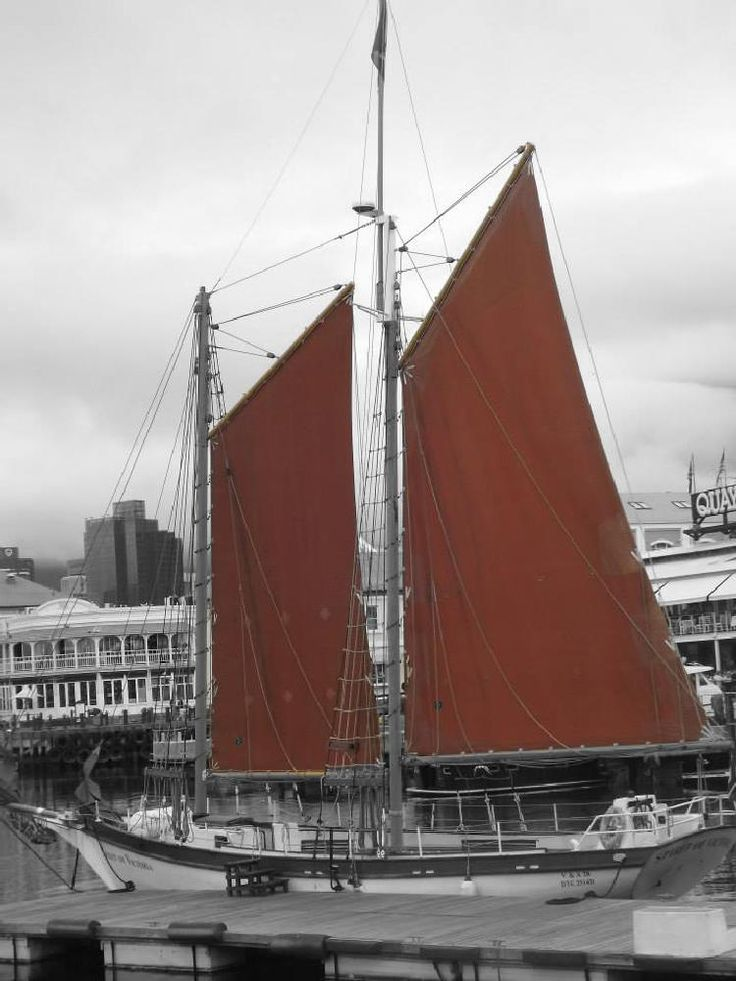 Mighty red sails by Pieter Geyser