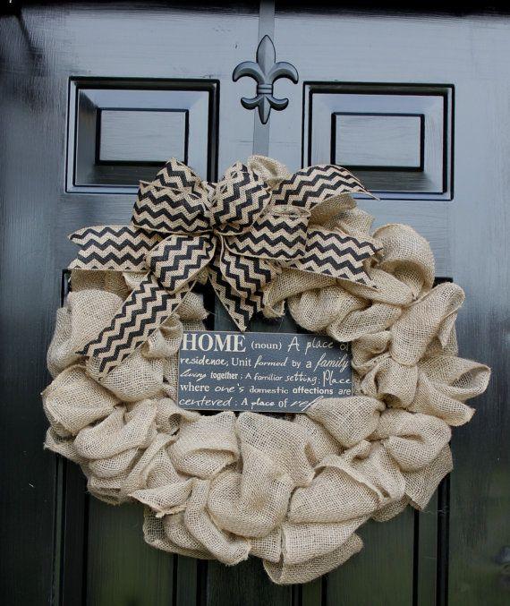 Burlap Wreath - Etsy Wreath - Summer wreaths for door  - Door Wreath - Monogram wreath - Wreaths - Wreath