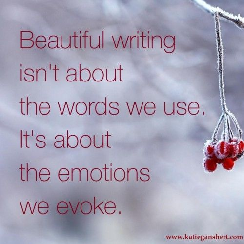 But... the emotions you evoke depends on the words you use, so...