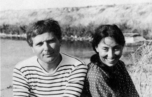 Île de Ré, Philippe Sollers et Julia Kristeva, 1980, photo Anne de Brunhoff