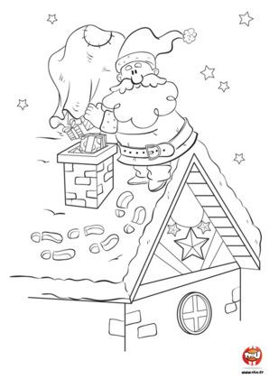 9 best noel images on Pinterest | Coloring pages, Santa clause and ...