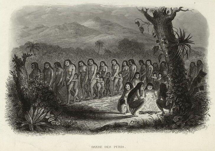 Puri-Indians-Brazil-dancing - Pueblos indígenas de Brasil - Wikipedia, la enciclopedia libre