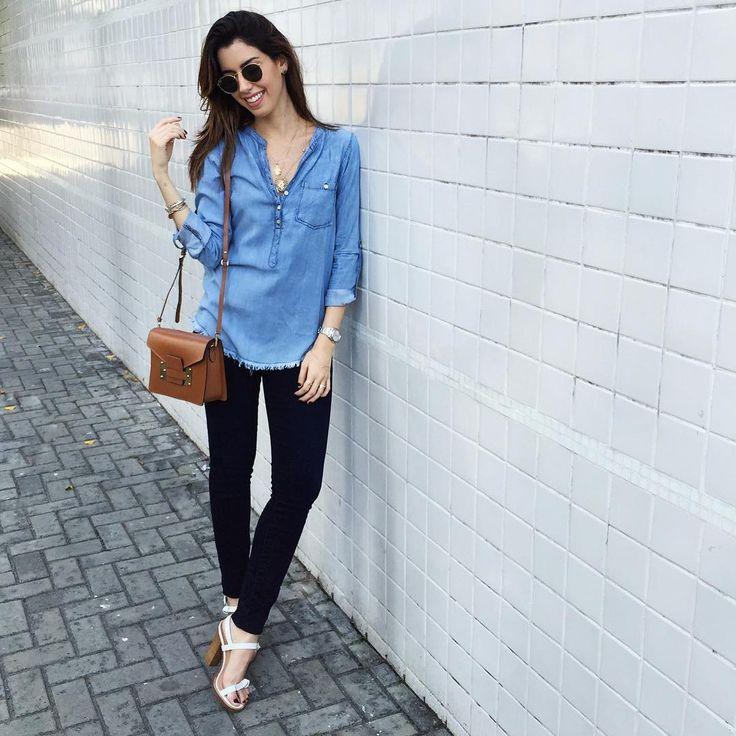 """All jeans for todaaaay!✌️Obcecada com esse resolution jeans da @gapbrasil! Virou meu skinny favorito, veste MUUUITO bem! #ootd #camilook"""