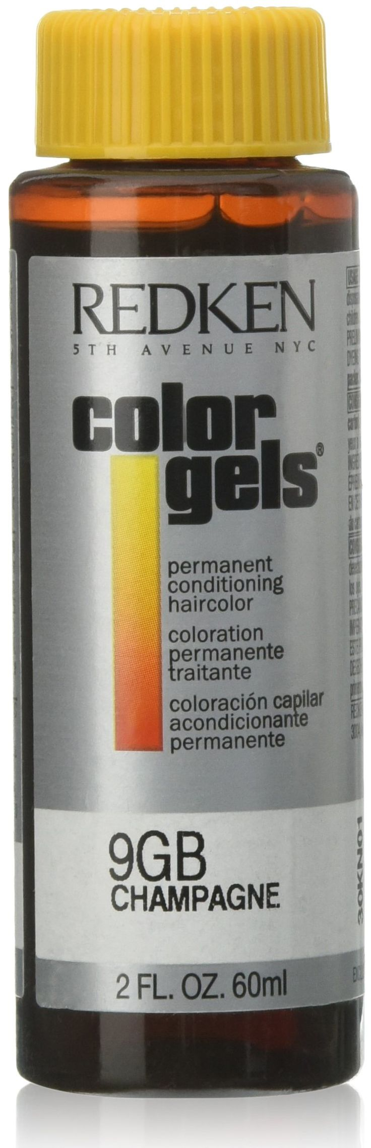 Redken Color Gels Permanent Conditioning 9GB Champagne Hair Color for Unisex, 2 Ounce. Use it to brighten, darken, change or correct, or for highlighting and creative color effects. Color gels provides exceptional gray coverage. Results are long lasting and hair is left in superior condition.