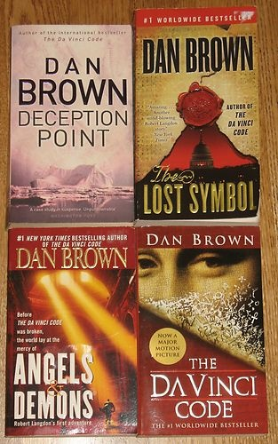 The Da Vinci Code Angels & Demons Lost Symbol Deception Point Dan Brown Book LOT