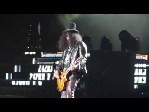 (3) Guns N' Roses -Slash Solo + Sweet Child of Mine en Lima Peru 2016 - YouTube