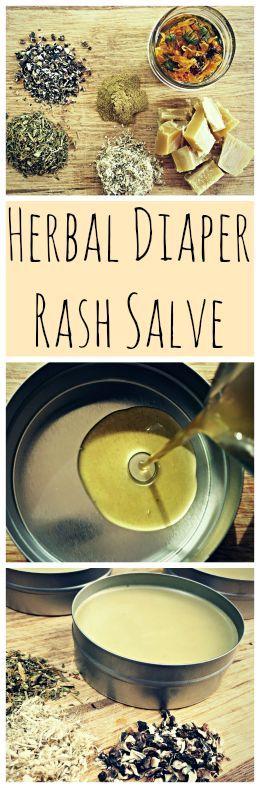 A recipe for a homemade, DIY herbal diaper rash salve that works!: