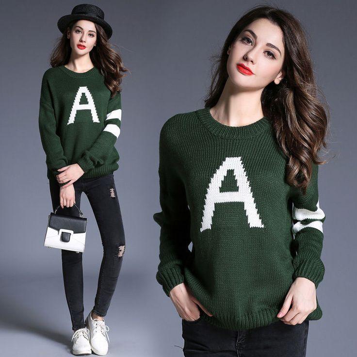 Women'S  Long Sleeve Loose Cardigan Knitted Sweater Jumper Knitwear Outwear