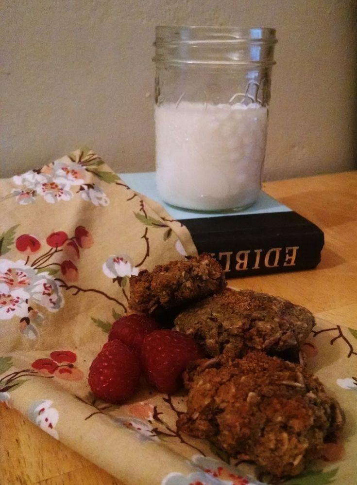 Paleo-ish Raspberry Oatmeal Cricket Cookies