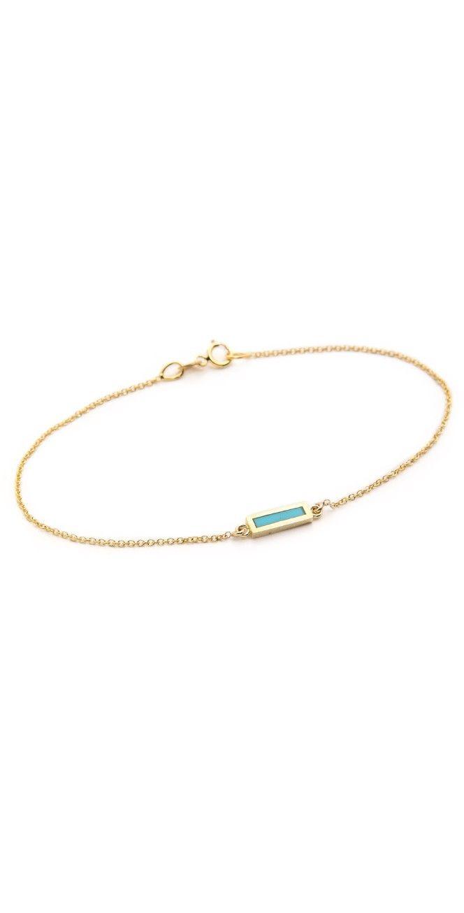 Jennifer Meyer Jewelry Inlay Short Bar Bracelet | SHOPBOP