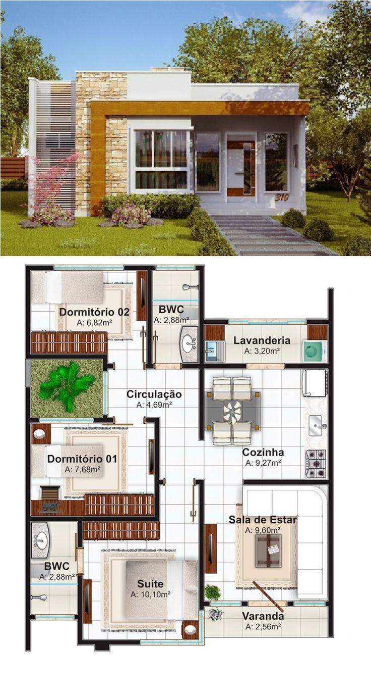 Fonte: http://www.plantasdecasas.com/projetos/casa-natal-estilo-moderno-para-casa-pequena-com-3-quartos-e-suite/