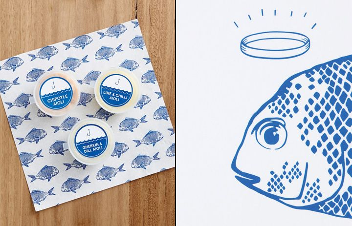 """The Good Fish Restaurant Branding by Swear Words """" Anything but a """"frozen flake and soggy chips"""" sort of joint, The Good Fish Co. reinvents the concept of the fish and chip shop by focussing on..."""