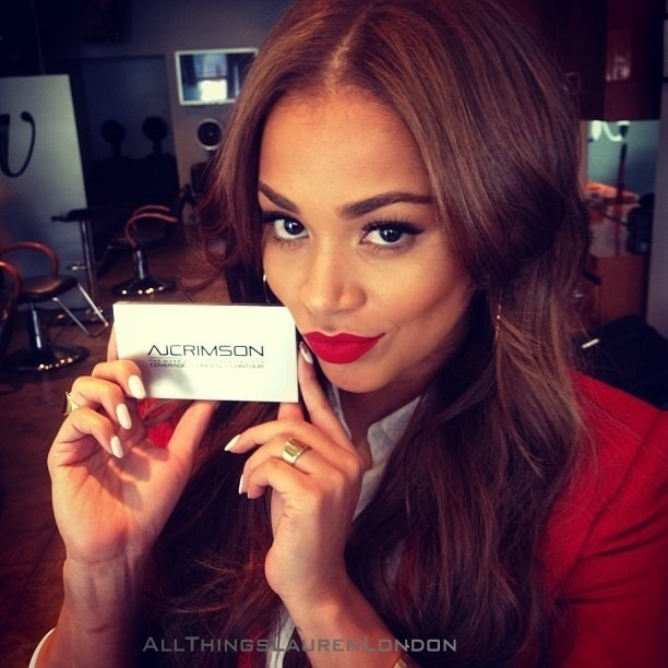 Gorgeous Lauren London Pretty Make Up Nails