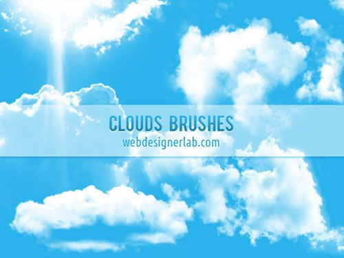 150+ Free and High Resolution Cloud Brushes for Photoshop - Designbeep