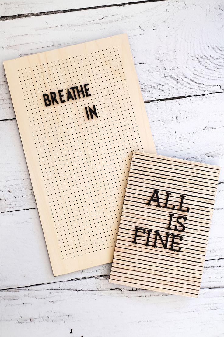 DIY Letterboard aus Holz basteln – Wie man sich selbst verrückt macht.