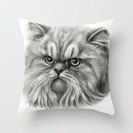 Persian Cat Sk072 Throw Pillow Persian Cat Cats Cat Pillow