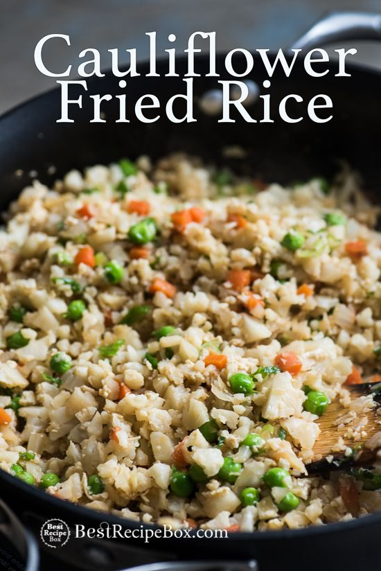 Cauliflower Fried Rice Recipe is Healthy and Amazing! | @bestrecipebox  Use tamari instead of soy sauce