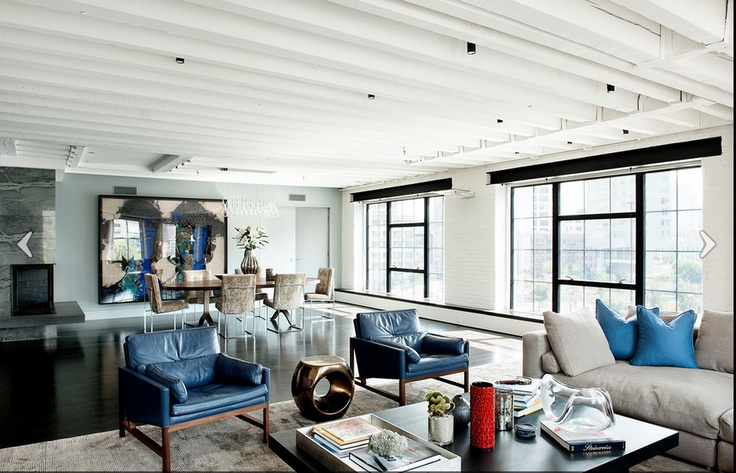 Manhattan loftHowell Design, Living Rooms, Interiors Design, David Howell, Modern Living Room, Laight Street, New York, Leather Chairs, Street Loft