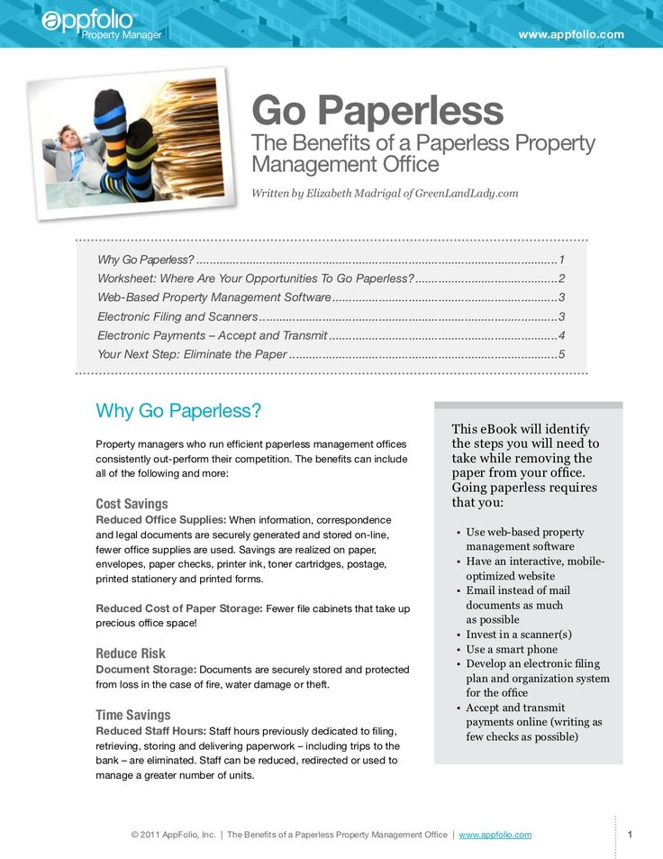 Ideas on how to run a paperless property management office