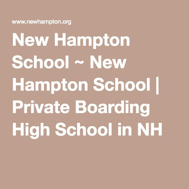 New Hampton School ~ New Hampton School | Private Boarding High School in NH