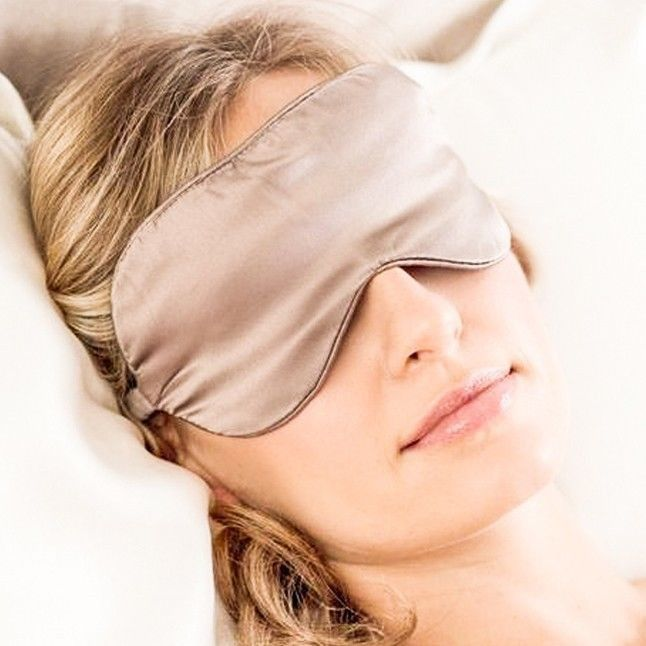 100% pure mulberry Natural silk sleep mask & blindfold, super-smooth eye mask
