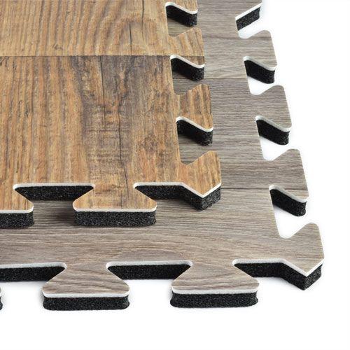 Rustic Wood Grain Foam Tiles - Trade Show Wood Floors