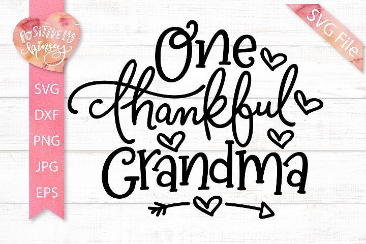 Download One Thankful Grandma Svg Dxf Png Eps Grandma Thanksgiving 339003 Svgs Design Bundles Svg Eps Dxf