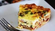 Classic Quiche Lorraine | Food.com- I made it with smoked gruyere, and by adding 1/2 cup more half and half and one more egg I was able to make two quiche.
