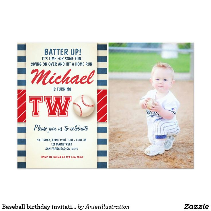 Baseball Birthday Party Invitation. Order yours at Boardman Printing