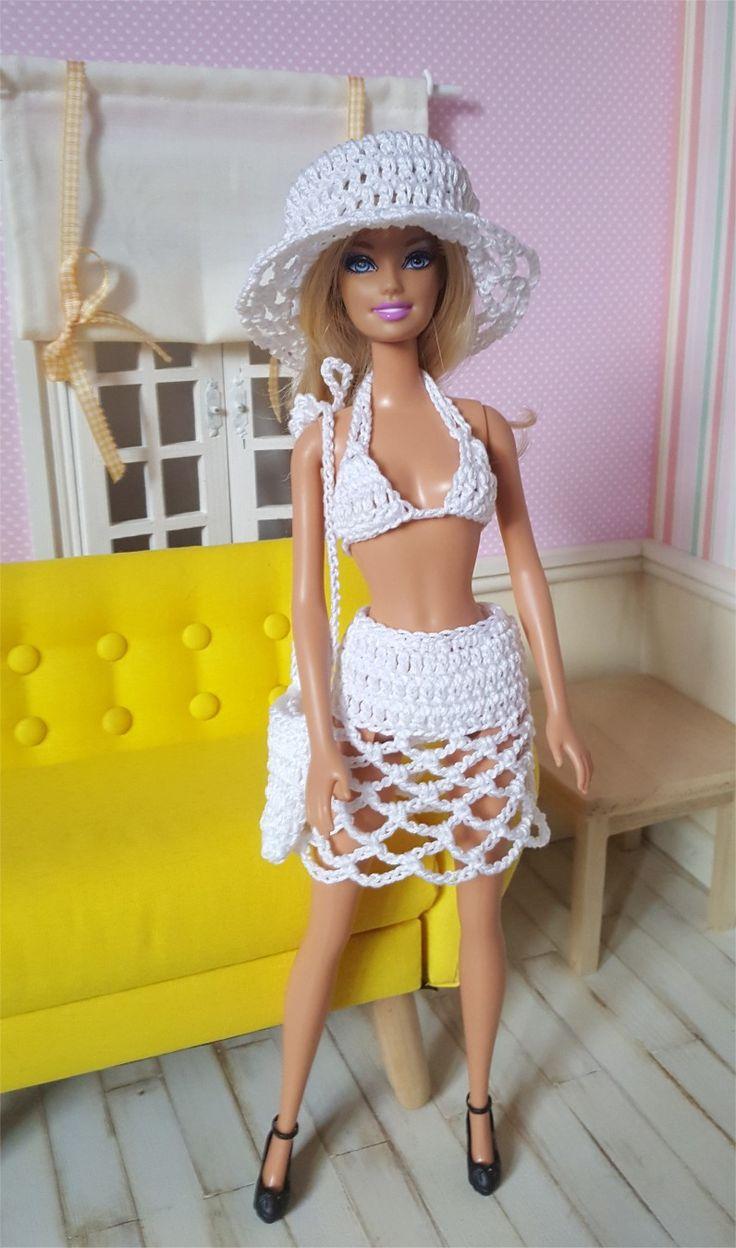 136- FICHE PATRON CROCHET Bikini pour poupée Barbie : Jeux, jouets par atelier-crochet
