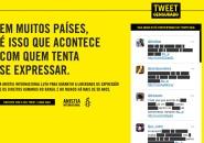 Anistia Internacional cria Tweet Censurado