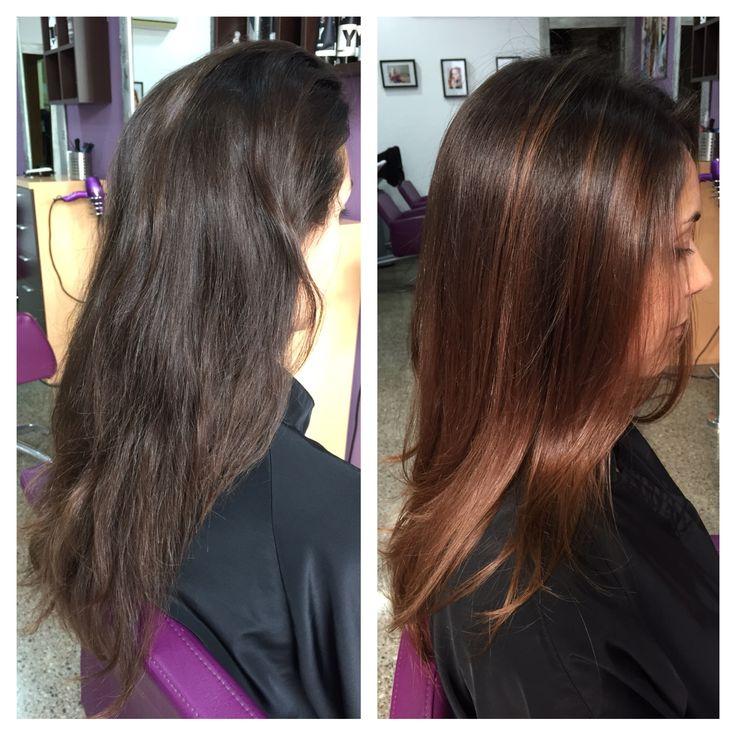 Mechas Balayage Color Caramelo Ombre Hair Degradados