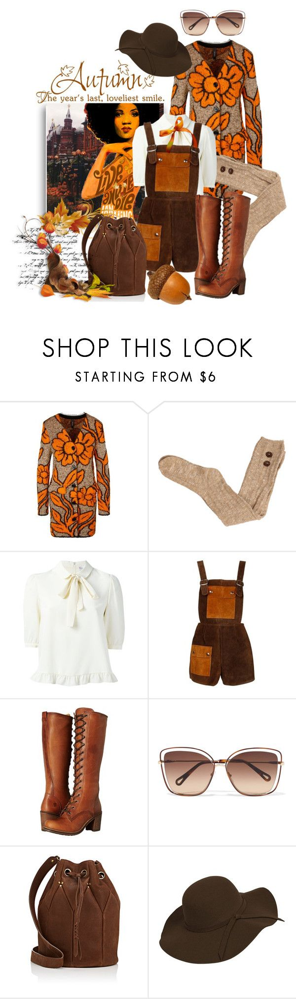 """""""Autumn Romper"""" by lisasotrue ❤ liked on Polyvore featuring MARC CAIN, James Bond 007, Frye, Chloé and Jérôme Dreyfuss"""