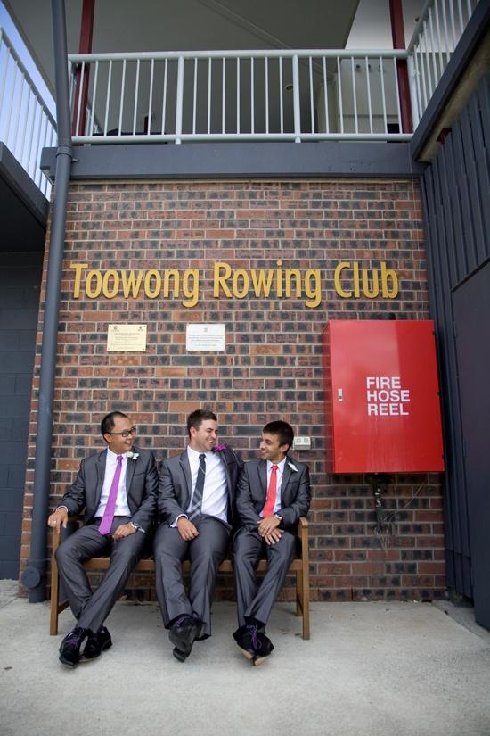 James and Leah had a fantastically fun wedding at the Toowong Rowing Club