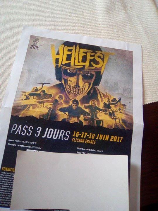 Hellfest #Open #Air Ticket (16. #bis 18. #Juni 2017) €250   Voelk... Hellfest #Open #Air Ticket (16. #bis 18. #Juni 2017) €250 - #Voelklingen  #Verkaufe aufgrund #von Terminueberlagerungen #meine 3-Tages-Festivalkarte 16.+17.+18. #Juni 2017 (Nantes, Frankreich)  #Mehr #als 160 #Bands #auf 6 Buehnen, u.A.:  Aerosmith, #Deep #Purple, #Linkin #Park, Alestorm, #In #Flames, Sabaton, A #Day #To #Remember, Five #Finger Death Punch, #Steel Panther, Slayer u.v.m. #Link #zu gesamte