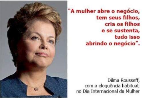 """Dilma mente falando… """"Dilma ainda está em combate, de metralhadora em punho, tentando derrubar governos para implantação do comunismo que já foi da Rússia. Dilma não mente, simplesmente é a própria mentira. Quando colocou em seu currículo que era mestra e doutora pela Unicamp, ela não mentiu, apenas não sabia o que é isso. Quem pensa, como ela, que a mandioca é uma invenção tecnológica não pode mesmo saber que """"impeachment"""" é matéria de direito constitucional."""""""