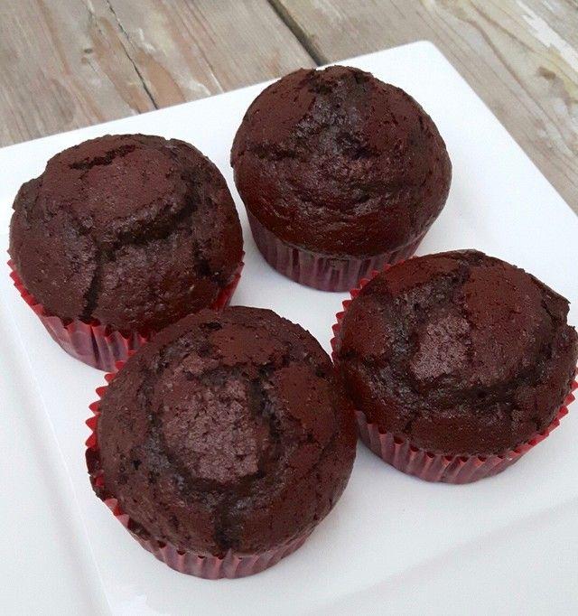 Smeuïge Suikervrije Chocolade Cupcakes