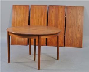 Lauritz.com - Moderna bord och stolar - Dansk møbelproducent. Rundt spisebord med 4 tillægsplader - DK, Kolding, Trianglen